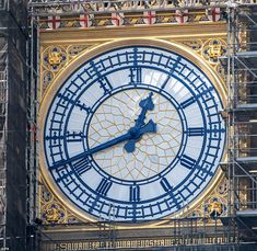 St George's flag is displayed on Big Ben for the first time in 90 years | Daily Mail Online St George Flag, Big Ben Clock, Flag Painting, Beautiful London, Time Out, Bongs, Great Britain, Red And White, Restoration