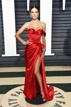 Alessandra Ambrosio In Ralph & Russo - At the Vanity Fair Oscar Party