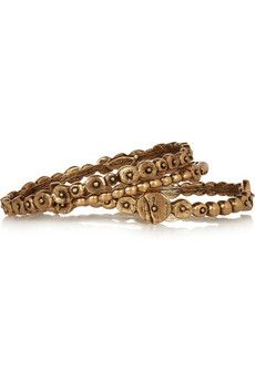 Oscar de la Renta Set of three gold-plated bracelets | NET-A-PORTER