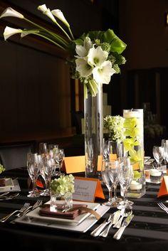 ブライズシーン エスティーズ 結婚式場写真「お洒落なゲストテーブルフラワー 」 【みんなのウェディング】