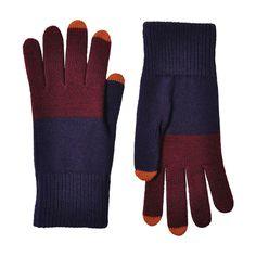 colorblock touchscreen gloves by verloop