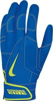 Nike GB0335 Diamond Elite Pro II Batting Gloves - Royal/Volt
