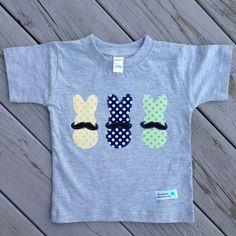 Boy's Peeps with Mustache Easter Shirt by thegreenelephantco, $19.50