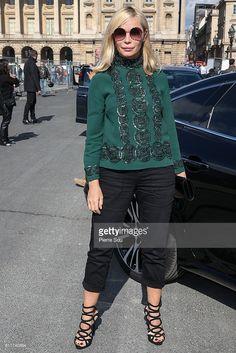 Photo d'actualité : Emmanuelle Beart arrives at the Elie Saab show as...