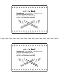 Join the Band!, Lesson Plans - The Mailbox Preschool Name Recognition, Preschool Names, Name Games, Music And Movement, Mailbox, Early Childhood, Lesson Plans, Literacy, Back To School