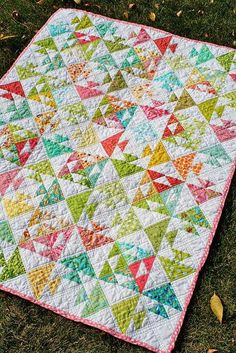 This adorable baby quilt is made using a modern quilt design with carefully positioned quilt blocks. This baby quilt gets its name from the way the blocks