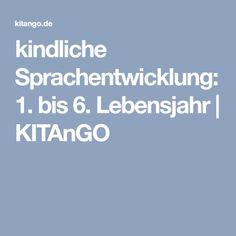 kindliche Sprachentwicklung: 1. bis 6. Lebensjahr   KITAnGO