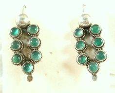 Natural Emerald and Sterling Silver  Vintage by Topcatvintage, $148.00