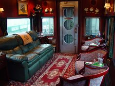 The private rail car Metis is based in Chicago, and available for hire / charter from Private Rail Cars or Train Chartering.  The rail car is available for long-distance quality rail travel across the USA.