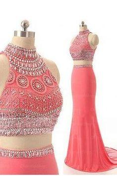 Custom Made Beading Prom Dress, Long Prom Dresses ,Evening Dresses, Long Party Dresses, Sexy Party Dress, Prom Dress
