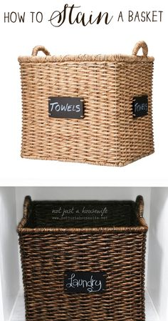 How to Stain a Basket   Not JUST A Housewife