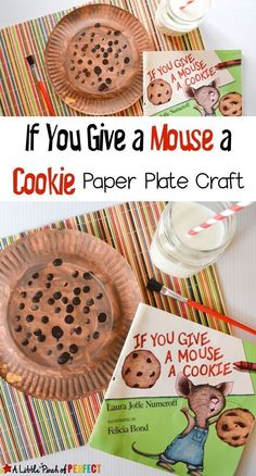 If You Give a Mouse a Cookie Paper Plate Craft and Free Printables - This is an easy and fun craft to work on after reading the book or while waiting for your own cookies to bake. This fun addition to Paper Plate Crafts, Book Crafts, Paper Plates, Fun Crafts, Crafts For Kids, Crafts For Preschoolers, Daycare Crafts, Preschool Classroom, Toddler Crafts