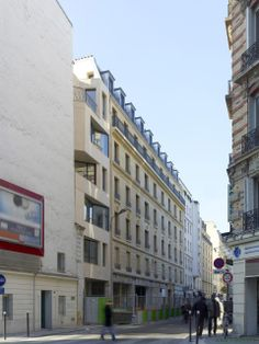 h2o architectes designed the '20 Social Housing' in Paris, France. http://en.51arch.com/2014/06/a3078-20-social-housing/