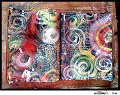art Journaling Techniques Day 29 Mixed Media Spirals