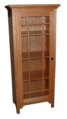 Jake's Amish Furniture - Small Shaker Bookcase With Glass Door