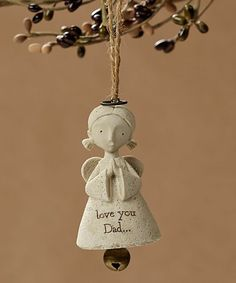 'Love You Dad' Bless You Angel Ornament