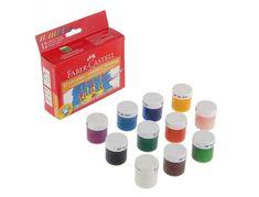 Papírenské zboží - Temperové barvy 15ml 12 barev, standardní Faber Castell (161112) Faber Castell, Tempera
