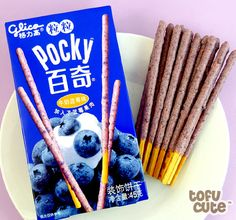 Buy Glico Pocky Biscuit Sticks - Tsubu Tsubu Blueberry Cream at Tofu Cute