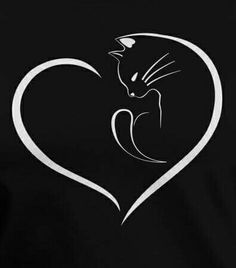 Cat, silhouette cats - Cat, silhouette cats Best Picture For healt photography For Your Taste You are - Body Art Tattoos, Small Tattoos, Tatoos, Cat Silhouette, Cat Crafts, Cat Tattoo, Cat Drawing, Crazy Cats, Rock Art
