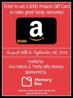 Check out Memory Box, plus enter to win a $100 Amazon Gift Card! #Giveaway - Thrifty Nifty Mommy