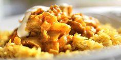 Slik spiser du god middag for 175 kroner uka. Biryani, Food Inspiration, Mashed Potatoes, Macaroni And Cheese, Curry, Food And Drink, Asian, Dishes, Meat