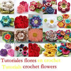Las mas bellas las encuentras aqui manos a la obra amiga y embellece cuanto gustes con ellas   Tutorials crochet flowers