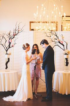 Indoor ceremony on pinterest ballroom wedding reception for Simple wedding decorations for home