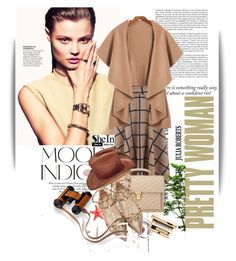 """""""Untitled #1289"""" by maja-k ❤ liked on Polyvore featuring ANNA, Yves Saint Laurent, Valentino, Hermès and Clarins"""