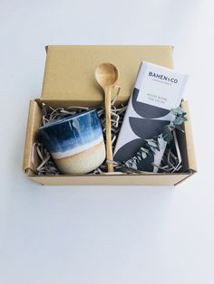 Excited to share this item from my #etsy shop: Petite Midnight Gift box Kraft Gift Boxes, Wood Spoon, Ceramic Cups, Chocolate Flavors, My Coffee, Twine, Gift Tags, Hand Carved, Fox