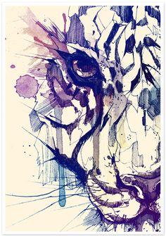 TIGER POSTER by DSORDER ., via Behance