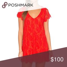 Show me your Mumu red lace dress SMYMM Red Kylie Lace Dress, size XS (note: I've found that SMYMM runs big, I normally wear a small or medium but wear a XS in MuMu) Show Me Your MuMu Dresses Mini