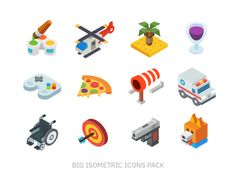 Isometric, 99 icon pack by Beresnev
