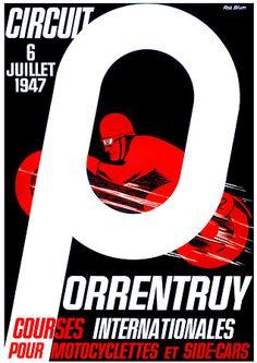 Vintage Motorcycle racing poster. 1940s http://www.vintagevenus.com.au/vintage/reprints/info/TR393.htm