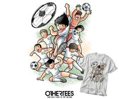 """""""NEWTEAM"""" by TRHEEWOOD T-shirts, Tank Tops, V-necks, Hoodies and Sweatshirts are on sale until October 7th at www.OtherTees.com #tshirt #othertees #clothes #popculture #football #tsubasa #anime #manga"""