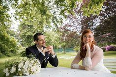 Brautpaarfotos mit Hochzeitsfotograf aus München im Schloss Aufhausen in Erding