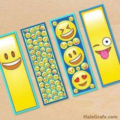 Free printable Emoji Bookmarks