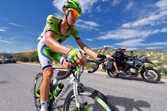 Gallery: 2014 Vuelta a Espana, stage 7 - De Marchi made a decisive move with 14 kilometers left, when Hesjedal's crash disrupted the four-man breakaway. From there, the Italian rode to victory alone. Photo: Tim De Waele | TDWsport.com.