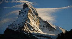 We all recognize this beauty! Stunning Photo! The Matterhorn in the Pennine Alps, on the border of Switzerland and Italy