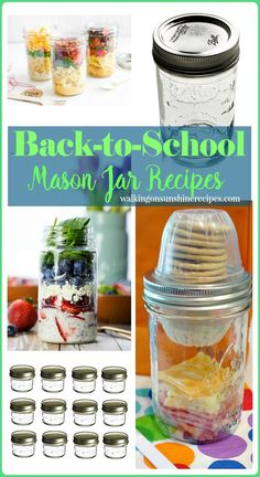 Mason jars are perfect for pre-made back-to-school lunches or for you when…