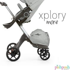 With a redesign to the iconic Xplory stroller, Stokke has make their wheels more streamlined in sleek black, which shaves 1 lb off the total weight. Check out the new Xplory 2017 on our site! Available in 6 colors - priced at $1,225.  http://www.pishposhbaby.com/stokke-xplory-2017.html
