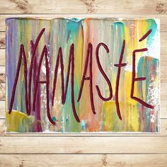 Abstract Painting on canvas, word painting, canvas art quote, mixed media, Gold, Hippie art, typography by Katey