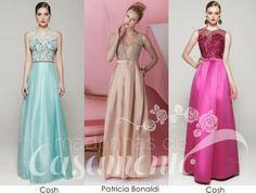 Madrinhas de casamento: Vestidos de festa estilo romântico