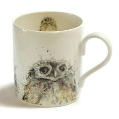 Owl Mug  Fine Bone China Bird Lovers Gift by TheSkinnyCardCompany