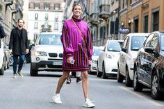 Blogger Helena Bordon in Fendi pre-fall 2015. Photo: Imaxtree