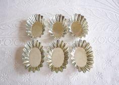 Vintage Swedish Tart Tins, Metal Tartlet Molds, Made in Sweden, Wide Oval Shaped