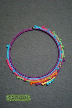 #Knitulator #sammelt #Ideen: Häkelschmuck Kawool                                                                                                                                                                                 Más