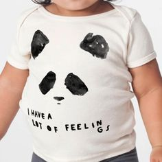 OUR VERY SWEET PANDA GRAPHIC IS PRINTED ON AMERICAN APPAREL'S 'NATURAL' COLOR, 100% ORGANIC COTTON TEE. ALL GRAPHICS ARE PRINTED USING NON-TOXIC, WATER-BASED IN
