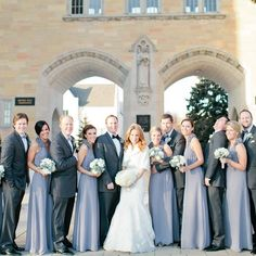 GREY bridal party - Google Search