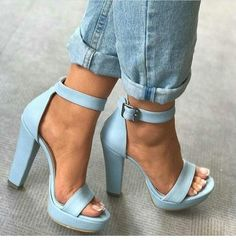 "Nothing makes your look stand out more than the perfect blue heels! High Heels Your ""True Blue"" Heels For Any Occasion Stilettos, Pumps Heels, Stiletto Heels, Prom Heels, Crazy Shoes, Me Too Shoes, Heeled Boots, Shoe Boots, Heeled Sandals"