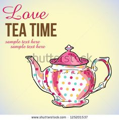 tea pot vector illustration - stock vector